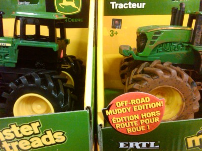 Dirty Toy Tractor
